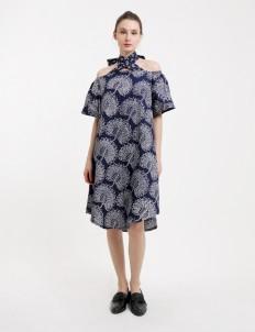 Blue Premium Jambrud Batik Dress