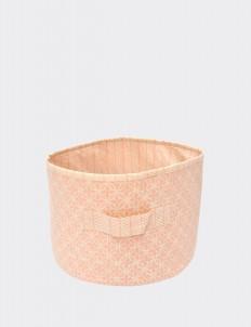 Baby Peach Batik Fabric Basket