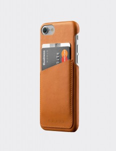 Tan Leather Wallet Case for iPhone 7