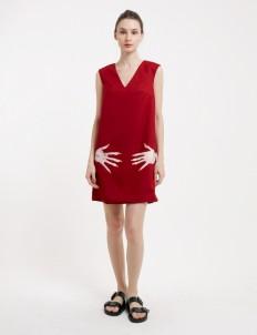 Red Hip Cher Dress