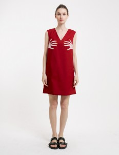 Red Chest Cher Dress