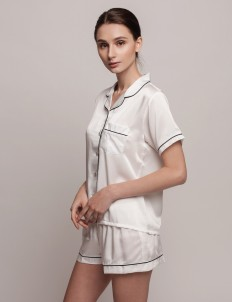 White Black Anneliës Short PJ Set