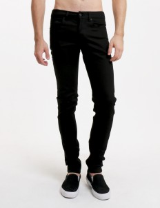 Black Afghani Denim Pants
