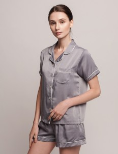 Gray Anneliës Short PJ Set