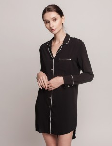 Black Annette Dress Shirt