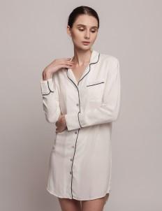 White Black Annette Dress Shirt