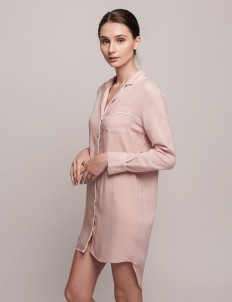 Pink White Annette Dress Shirt