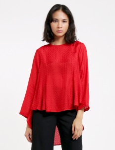 Red Nadilla Blouse