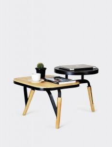Levolino Natural & Black Coffee Table
