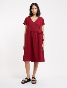 Red Wisdom Wrap Dress