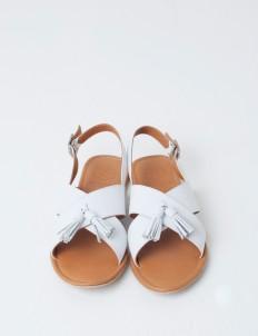 White Rochas Sandals