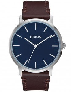 Porter Leather with Navy Dial