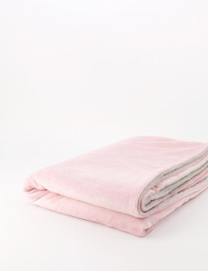 Pink & Gray Duotone Throw