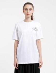 White HAY Diamond Basic T-Shirt