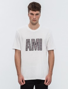 Patched Ami Letters S/S T-Shirt