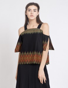 Black Zeuss Shoulder Top