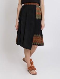 Black Keera Pleated Skirt