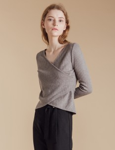 Gray Lucia Knit Top