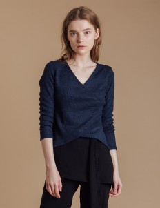 Navy Lucia Knit Top
