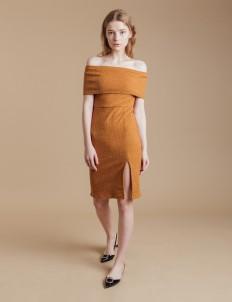 Mustard Natalie Knit Dress