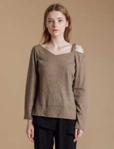 Taupe Noel Sweater