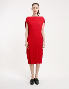 Red Riveter Pleated Dress