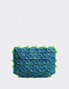 Acid Blue Warrior Clutch