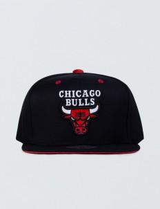 Chicago Bulls Solid Velour Logo Snapback