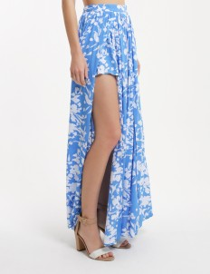 Floral Blue Orsini Maxi Skirt