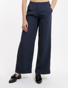 Stripes Blue Galina Flare Pants