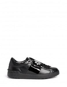 'Rockstud' patent band leather sneakers