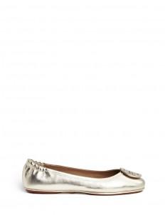 'Minnie Travel' metallic leather ballet flats