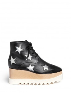 'Elyse' star alter nappa wood platform boots