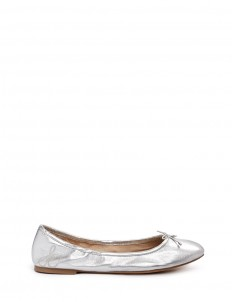 'Felicia' metallic leather ballet flats
