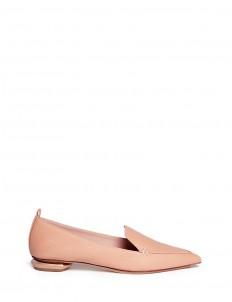 'Beya Bottalato' metal heel leather skimmer loafers