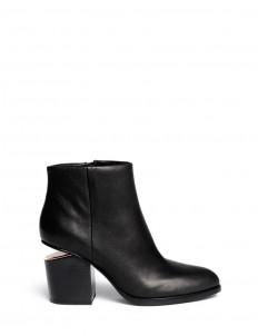 'Gabi' cutout heel leather boots