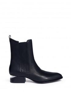 'Anouck' cutout heel leather Chelsea boots