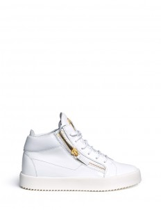 'May London' zipped patent leather high top sneakers