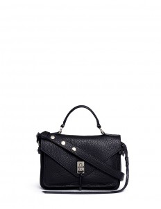 'Darren' small pebbled leather satchel