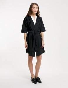 Black Elena Coat