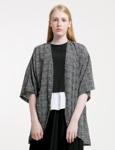Abstract Rounded Hem Cardigan