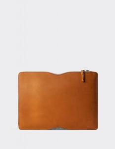 "Tan Folio Sleeve for 13"" Macbook"