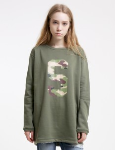 Green Pat Sweater