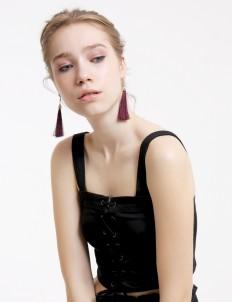 Dark Purple Clara Earrings