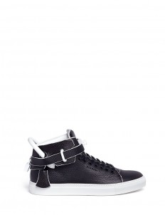 '100MM Edge' high top leather sneakers