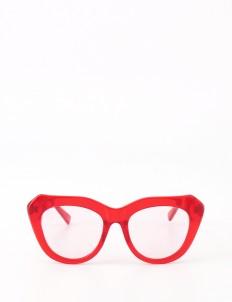 Crystal Red Hepnurn Glasses
