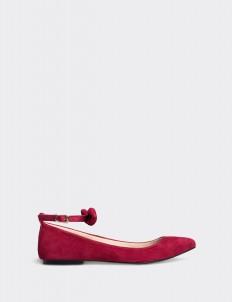 Red Bonita Flat Shoes