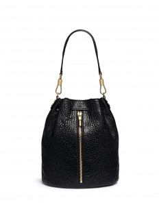 'Cynnie Sling' grainy leather bucket bag
