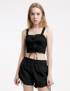 Black Like The Candle to The Sorrow Crop Top