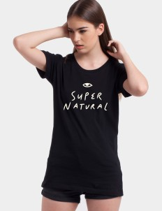 Black Super Natural Tee
